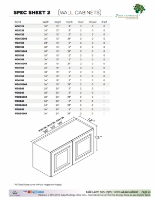 Cabinet Sizes